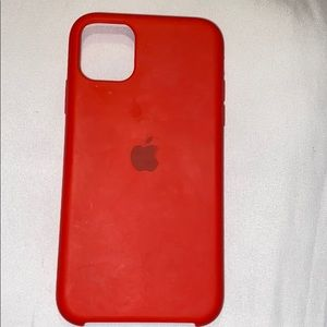iPhone 11 red off brand Apple case